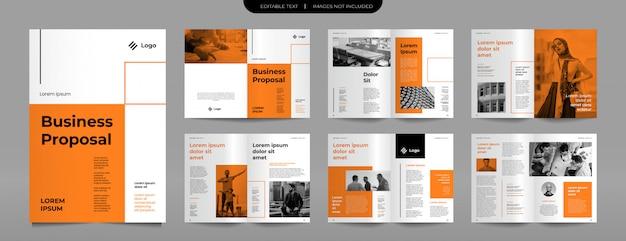 Plantilla de diseño de folleto de propuesta de negocio