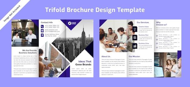 Plantilla de diseño de folleto tríptico corporativo