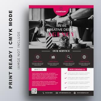 Plantilla de diseño de folleto de viajero de negocios