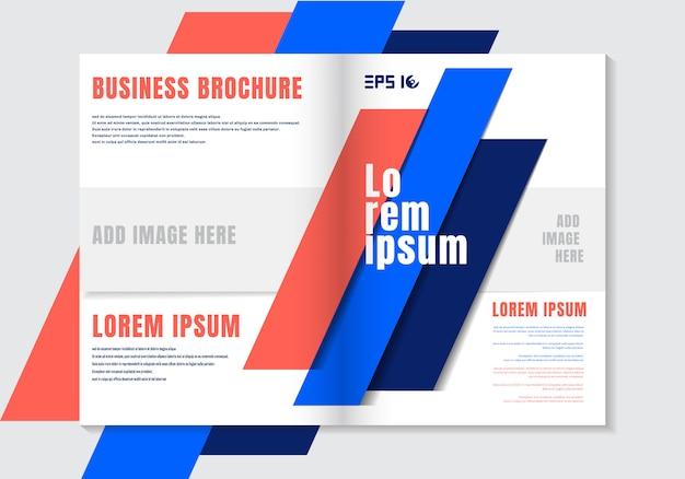 Plantilla de diseño de folleto