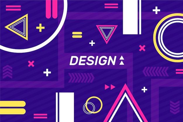 Plantilla de diseño con fondo de formas geométricas