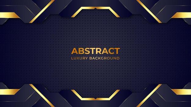 Plantilla de diseño de fondo de lujo de patrón de semitono dorado abstracto