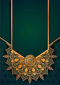 Plantilla de diseño de fondo de mandala de lujo estilo islámico