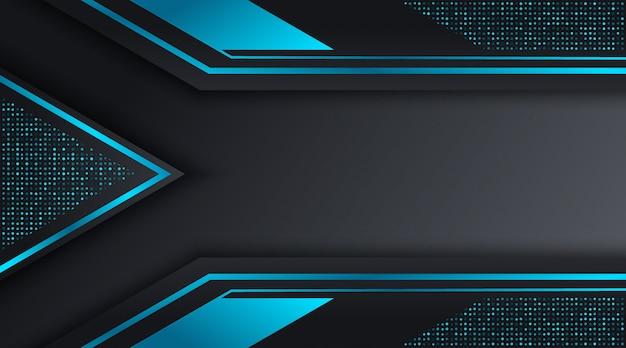 Plantilla de diseño de fondo de negocios corporativos techno negro y azul