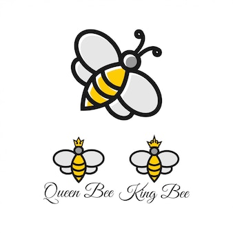 Plantilla de diseño gráfico de abeja