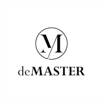 Plantilla de diseño gráfico de logotipo de monograma simple m