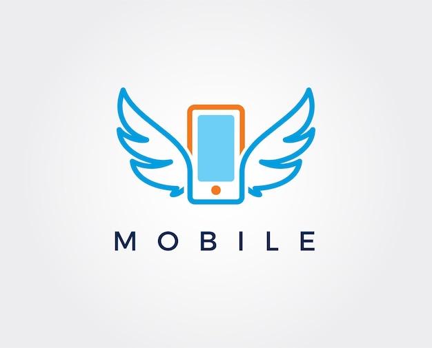 Plantilla de diseño de icono de logotipo de aplicación de teléfono móvil