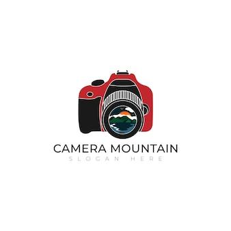 Plantilla de diseño de icono de logotipo de cámara de montaña