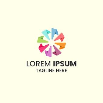 Plantilla de diseño de icono de logotipo colorido abstracto.
