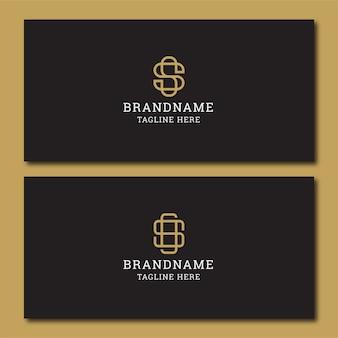 Plantilla de diseño de icono de logotipo inicial letra s. elegante, moderno, de lujo.