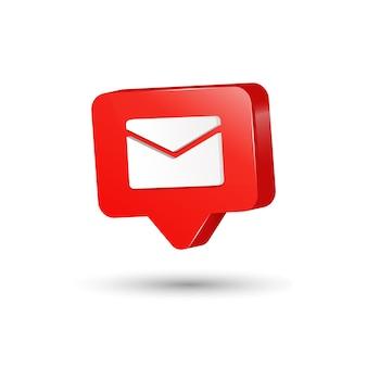 Plantilla de diseño de icono de mensaje 3d