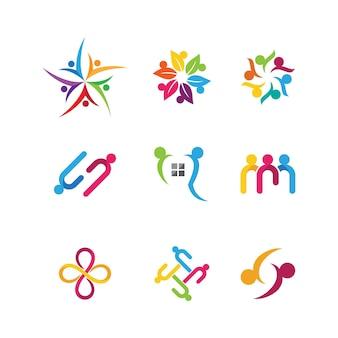 Plantilla de diseño de icono social, de red y de comunidad