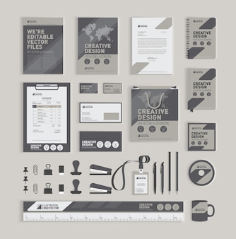 Plantilla de diseño de identidad corporativa geométrica