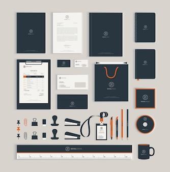 Plantilla de diseño de identidad corporativa
