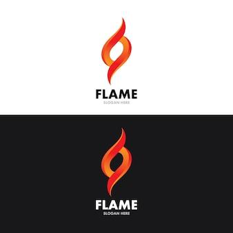 Plantilla de diseño de ilustración de vector de llama de fuego