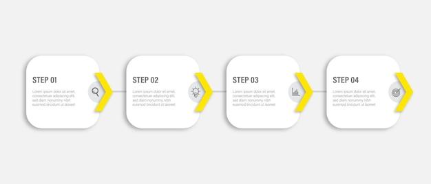 Plantilla de diseño de infografía empresarial con icono