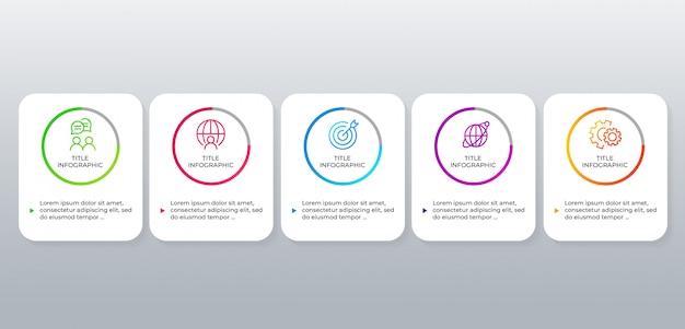 Plantilla de diseño de infografía empresarial moderna