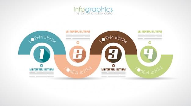 Plantilla de diseño de infografía con estilo plano moderno.