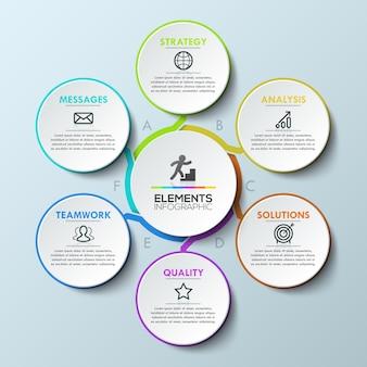 Plantilla de diseño de infografía