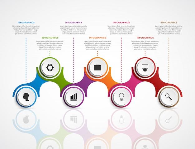 Plantilla de diseño de infografías abstractas.