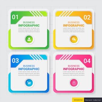 Plantilla de diseño de infografías de negocios