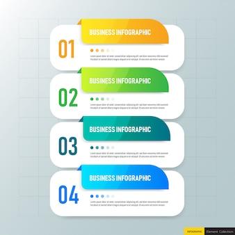 Plantilla de diseño de infografías de negocios.