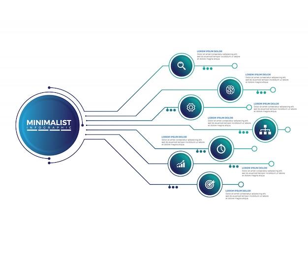 Plantilla de diseño infográfico abstracto.