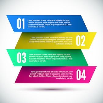 Plantilla de diseño infográfico colorido