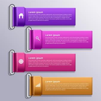 Plantilla de diseño infográfico con iconos