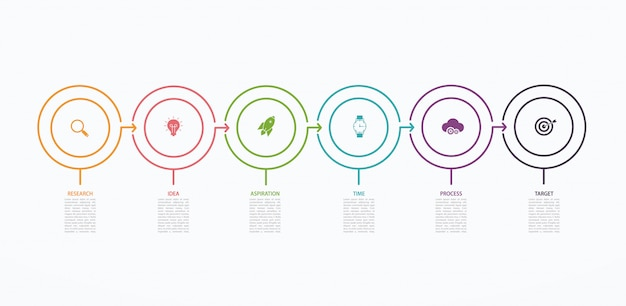 Plantilla de diseño infográfico de línea de tiempo con estructura escalonada. concepto de negocio con 6 opciones de piezas o pasos. diagrama de bloques, gráfico de información, banner de presentaciones, flujo de trabajo.
