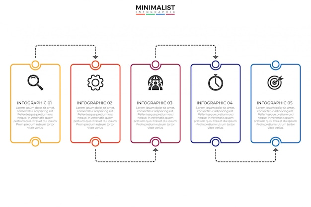 Plantilla de diseño infográfico línea de tiempo