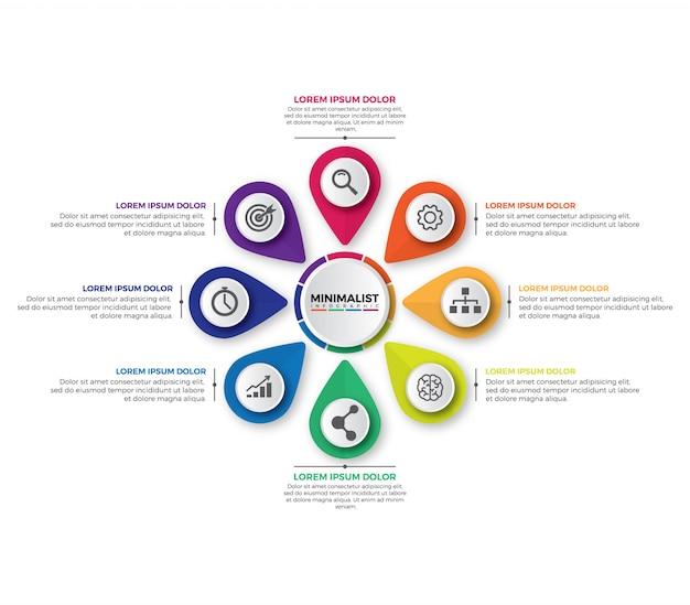 Plantilla de diseño infográfico moderno