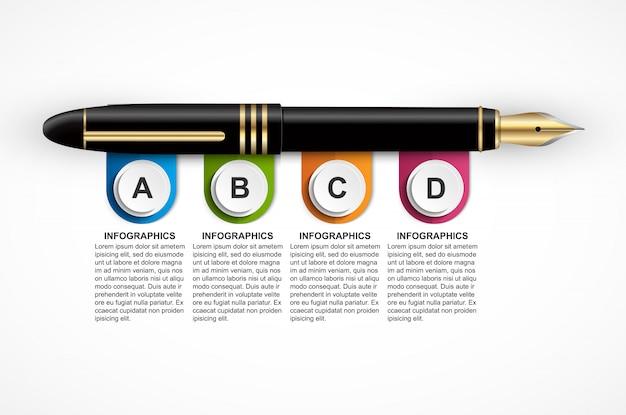 Plantilla de diseño infográfico negocio.