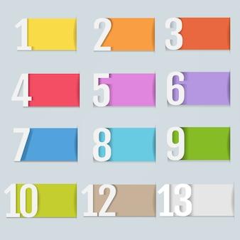 Plantilla de diseño infográfico con números