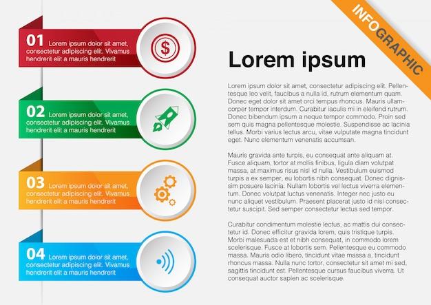 Plantilla de diseño infográfico.