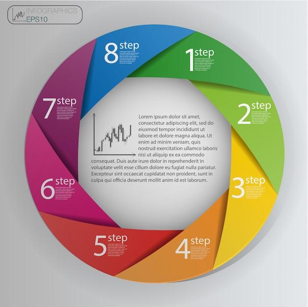 Plantilla de diseño infográfico
