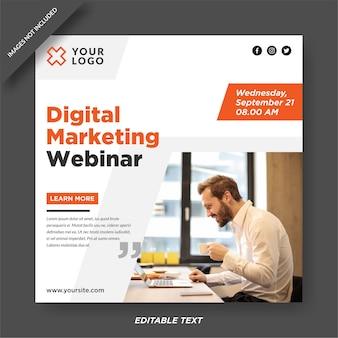 Plantilla de diseño de instagram de agencia de marketing digital