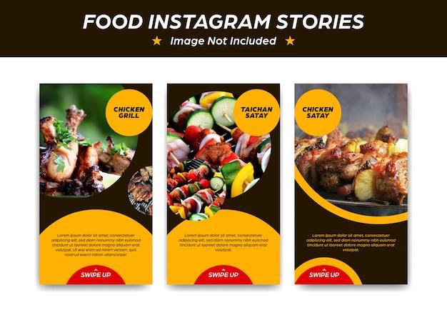Plantilla de diseño de instagram stroy para restaurante de comida y bistro.