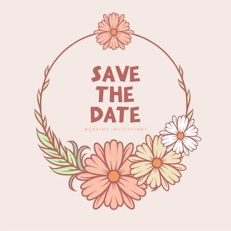 Plantilla de diseño de invitación de boda minimalista