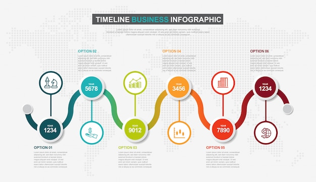 Plantilla de diseño de línea de tiempo de infografía.