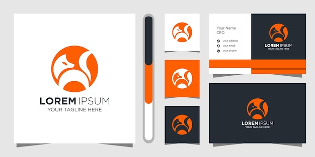 Plantilla de diseño de logo de fox