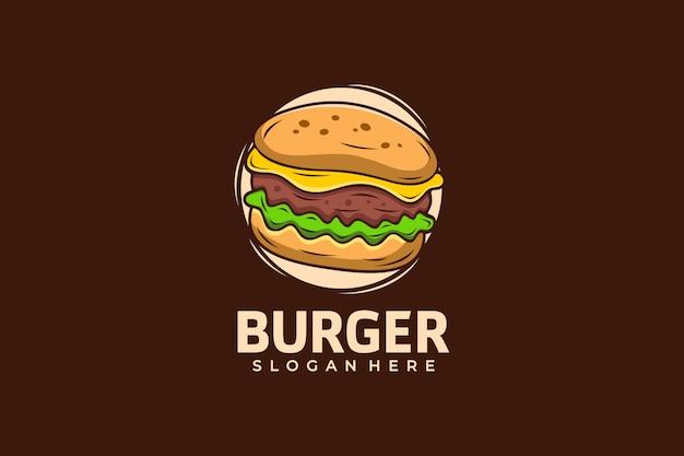Plantilla de diseño de logo de hamburguesa