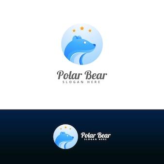 Plantilla de diseño de logo de oso polar