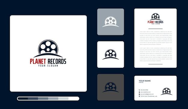 Plantilla de diseño de logo de planet records