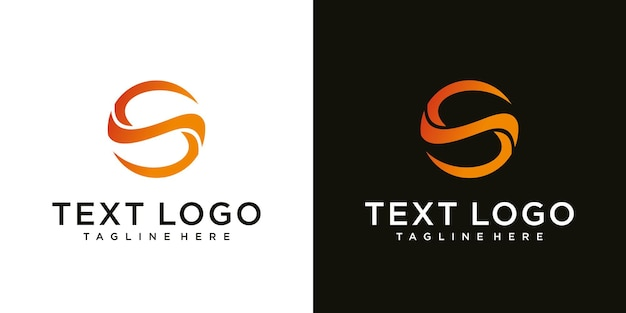 Plantilla de diseño de logotipo abstracto letra inicial s iconos de tecnología para negocios de gradiente de lujo