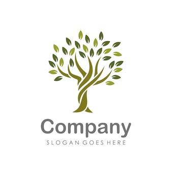Plantilla de diseño de logotipo de árbol creativo y único