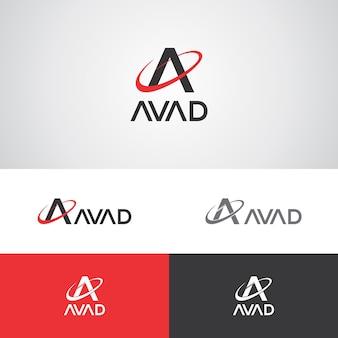 Plantilla de diseño de logotipo de avad telecom
