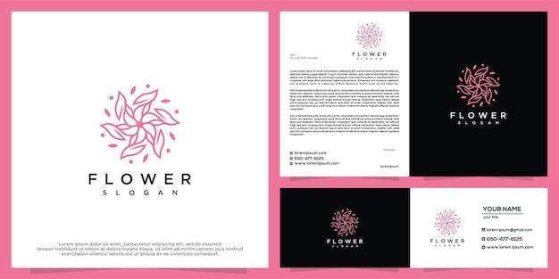 Plantilla de diseño de logotipo de belleza de flores