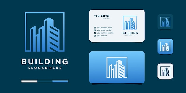 Plantilla de diseño de logotipo de bienes raíces de edificios.
