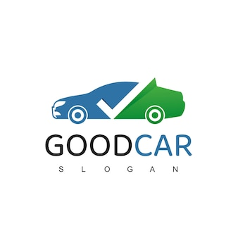 Plantilla de diseño de logotipo de buen coche
